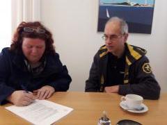 Ondertekening van de oprichtingsacte van de Stichting Bricks 4 Alpe d'HuZes